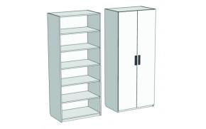 Шкаф 2-дверный с полками Junior CL-01, CLH-01 с рисунком