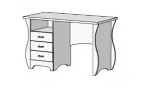 Стол письменный с 3 ящиками Classic CF-0335Q