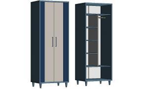 Шкаф комбинированный EC370 Elegant
