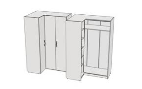 Шкаф угловой с полками Teenager JSU4 L/R
