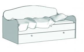 Кровать Диван (с заглушкой) KS-16Z с рисунком