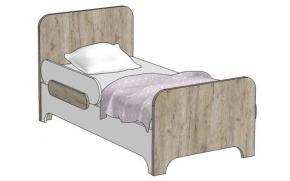 Кровать простая MB1-160 Клюква Мини