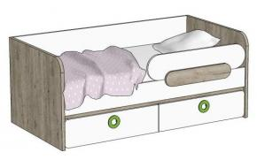 Кровать-диван с 2-мя ящиками MB3-160Q Клюква Мини