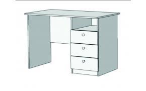 Стол письменный с 3 ящиками S2-110Q с рисунком