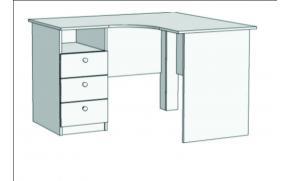 Стол письменный угловой с 3-мя ящиками Авто S5-1211Q с рисунком