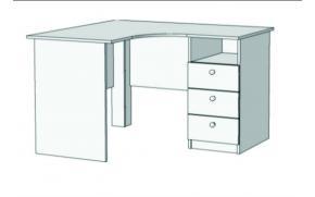 Стол письменный угловой с 3 ящиками S5-1211Q с рисунком