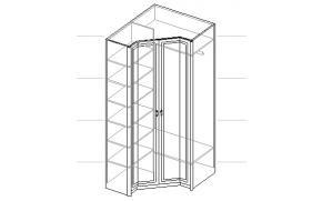 Шкаф угловой 2-х дверный. 20.100