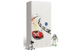 Шкаф 2-х дверный Formula (белый)