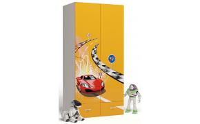 Шкаф 2-х дверный Formula (оранжевый)