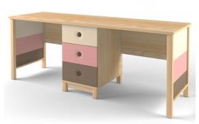 Стол 2-х местный Робин Wood розовый