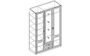 Шкаф для одежды 3-х дверный с 2 ящиками. 20.140