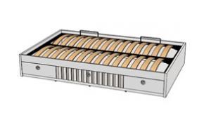 Кровать отдельностоящая с 3-мя ящиками и подъемным механизмом VBT01Q Velvet