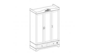 Шкаф 3-х дверный Flora (1001) изображение 14