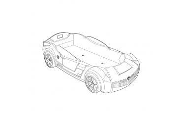 Кровать-машина Champion Racer BiTurbo 90х195 (1344) изображение 4
