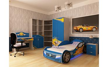 Кровать машина Champion (синяя) изображение 4