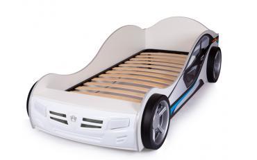 Кровать машина Champion (красная) со светящимися фарами и подсветкой днища изображение 6
