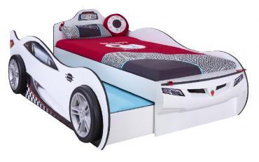 Кровать-машина c выдвижной кроватью Champion Racer 90х190/90х180 (1310) изображение 1