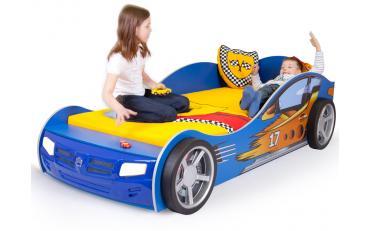 Кровать машина Champion (синяя) изображение 3