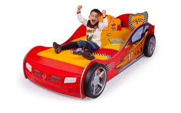 Кровать машина Champion (красная) изображение 4