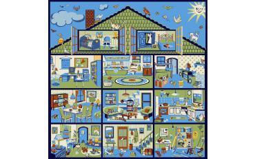 Детский развивающий ковер Sorona Creative Kids 40176 Dollhouse