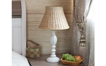 Лампа настольная Севенна беленый дуб с золотой патиной изображение 9