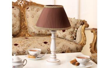 Лампа настольная Канталь коричневый дуб с белой патиной изображение 9