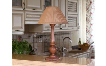 Лампа настольная Лаура бежевый дуб с коричневой патиной изображение 10