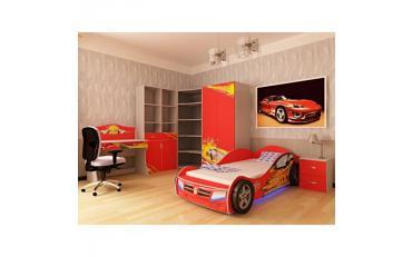 Кровать машина Champion (красная) изображение 9