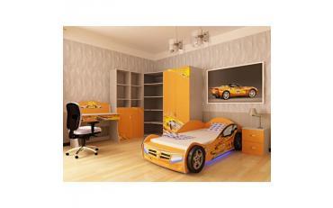 Кровать машина Champion (оранжевая) изображение 5