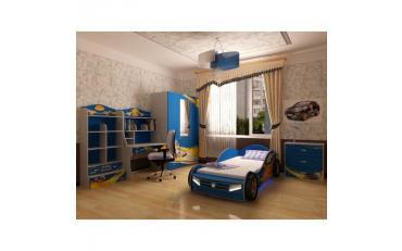 Кровать машина Champion (синяя) изображение 7