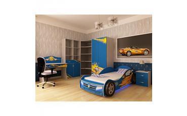Кровать машина Champion (синяя) изображение 8