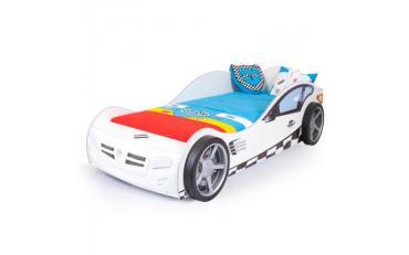 Кровать машина Formula (белая)
