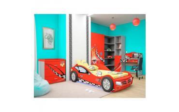 Кровать машина Formula (красная) изображение 2