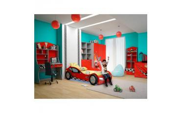 Кровать машина Formula (красная) изображение 3