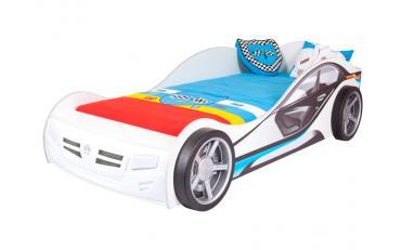 Кровать машина La-Man (синяя) изображение 1