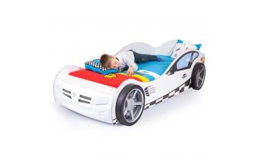 Кровать машина La-Man (синяя) изображение 2