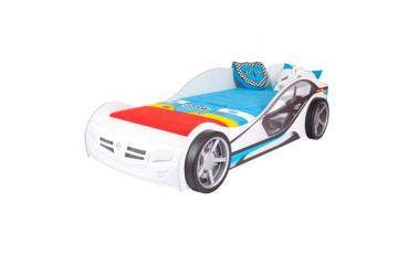 Кровать машина La-Man (синяя)