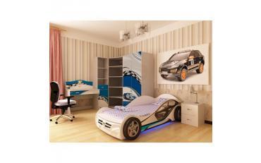 Кровать машина La-Man (синяя) изображение 6