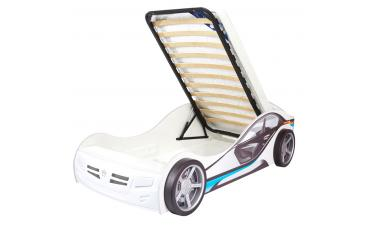 Кровать машина La-Man (синяя) изображение 9