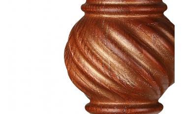 Бра Люберон основание квадрат коричневый ясень с золотой патиной изображение 2