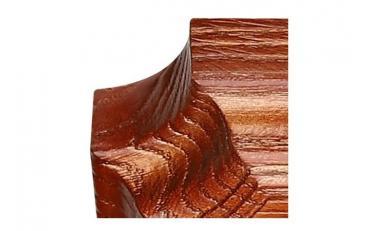 Бра Люберон основание квадрат коричневый ясень с золотой патиной изображение 3