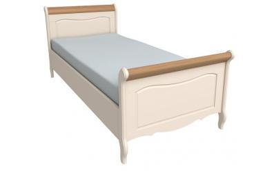 Кровать Лебо 90х200 (бежевый воск/браун) 60710