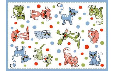 Детский развивающий ковер Sorona Joyful Cats/Dogs