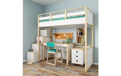 Набор мебели Робин Wood Лайт (кровать-чердак со столом)