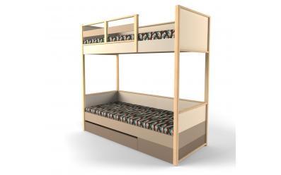 Кровать 2-х ярусная с фальш панелью Робин Wood - Правая