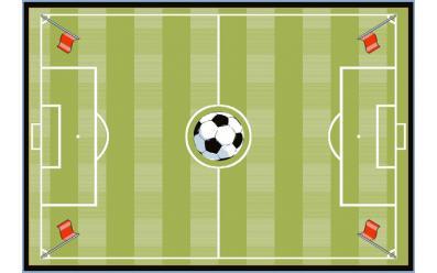 Детский развивающий ковер Sorona Joyful Soccer