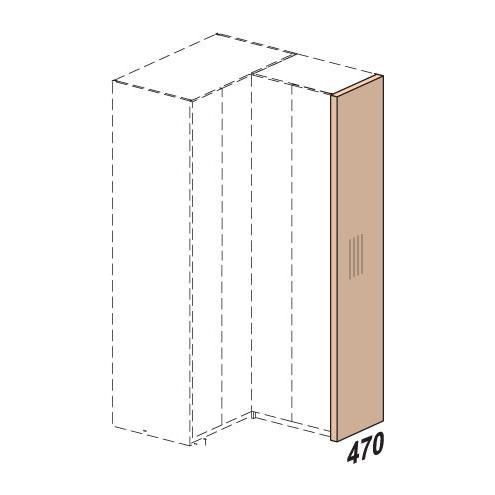 Стенка вертикальная шкафа Мегаполис 52h110