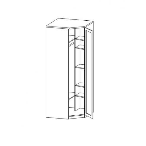 Шкаф для одежды с зеркалом 1дв.