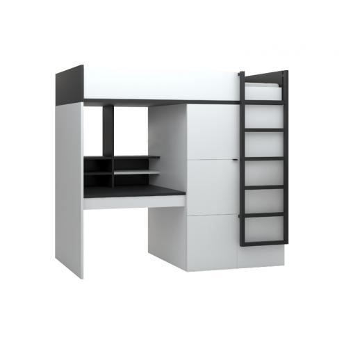 Кровать-чердак с рабочим местом Young Users