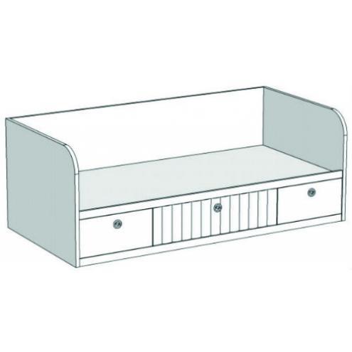 Кровать-диван с 3-мя ящиками VD1Q Velvet